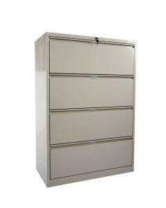 Godrej OEM 4 Drawer Lateral Steel Filing Cabinet Beige
