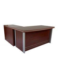 Plata 5216 Modern Executive Desk Apple Cherry