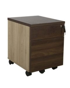 Projekt 2 Drawer Mobile Storage Unit Walnut