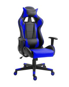 Racer C599 Gaming Chair Blue With PU Leatherette & Seat adjustable height