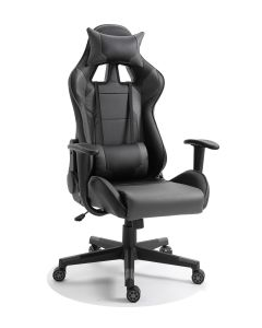 Racer C599 Gaming Chair Grey With PU Leatherette & Seat adjustable height