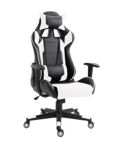 Racer C599 Gaming Chair White With PU Leatherette & Seat adjustable height