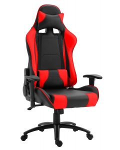 Gumi 09854 High Back Black & Red Video Gaming Chair with PU Leatherette