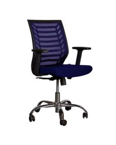 Sleekline 1610 Low Back Chair Blue Mesh