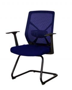 Sleekline 1651C Visitors Chair Blue Mesh