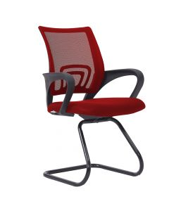 Sleekline 69001C Visitors Chair Red Mesh