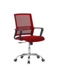 Sleekline 690033 Task Chair Red Mesh