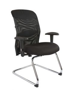 Mia 726-2 Visitors Chair Black Mesh
