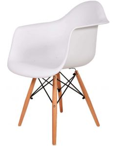 Ultimate Eames Style DAW ArmChair - White