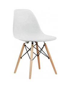 Ultimate Eames Style DSW Plastic Dining Chair - White