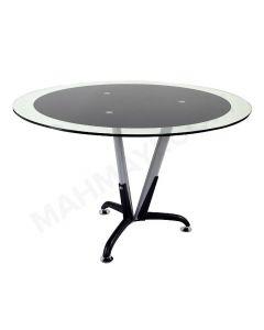 Klaas 6168B Modern Glass Round Meeting Table