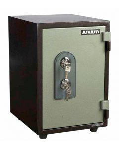 Victory T53 Safe with 2 Key Locks - Black & Green