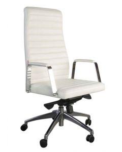 Blanc 263 Executive High Back Chair White PU